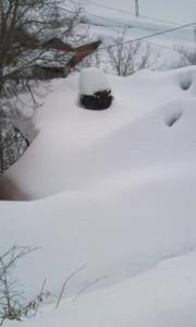 Köyümüzdeki Kar Yağışı